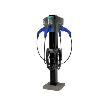 20 ft. 16 Amp 120/240-Volt Commercial/Workplace EV Charging Stations with Quad Pedestal