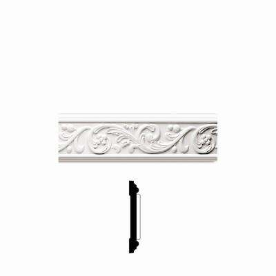 3/4 in. x 4-7/8 in. x 96 in. Primed Polyurethane Rococo Frieze Moulding