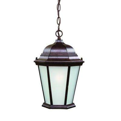 Richmond Collection 1-Light Burled Walnut Outdoor Hanging Lantern