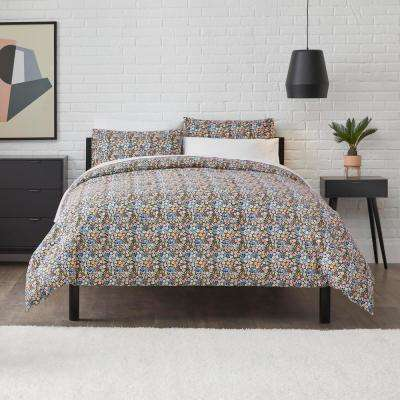 Maisie Black Floral Comforter Set