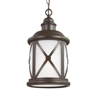 Lakeview Antique Bronze 1-Light Outdoor Hanging Pendant