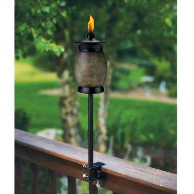 64 in. Resin Jar Torch 4-in-1 Stone Color (Pack of 2)