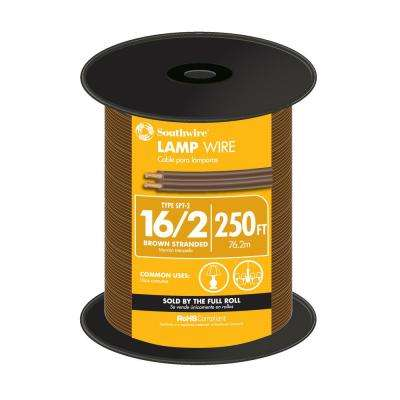 250 ft. 16/2 Brown Stranded Lamp Wire