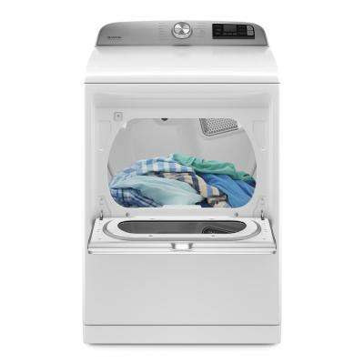 7.4 cu. ft. 240-Volt Smart Capable White Electric Vented Dryer with Hamper Door and Steam, ENERGY STAR