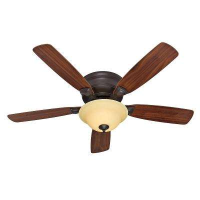 Low Profile Plus 52 in. Indoor New Bronze Ceiling Fan with Light Kit