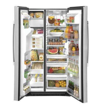 21.8 cu. Ft. Side by Side Refrigerator in Stainless Steel, Counter Depth and Fingerprint Resistant