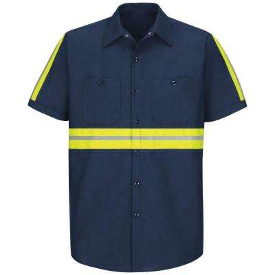 Men's Yellow/Green Visibility Trim Enhanced Visibility Industrial Work Shirt