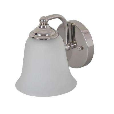 1-Light Satin Nickel Sconce