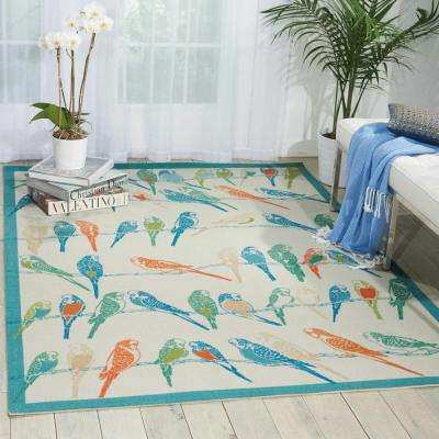 Retweet Multi 8 ft. x 11 ft. Indoor/Outdoor Area Rug