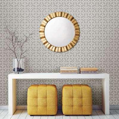 Maze Light Grey Tile Wallpaper
