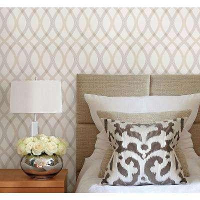 Contour Grey Geometric Lattice Wallpaper Sample