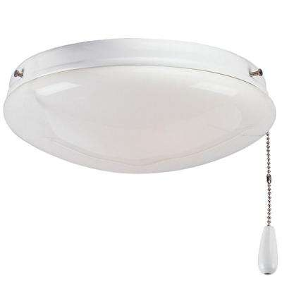 AirPro 2-Light White Ceiling Fan Light