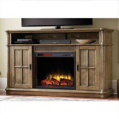 Jamerson Manor 60 in. Media Console Infrared Electric Fireplace in Driftwood