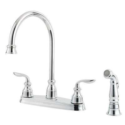 Avalon 2-Handle Kitchen Faucet in Polished Chrome