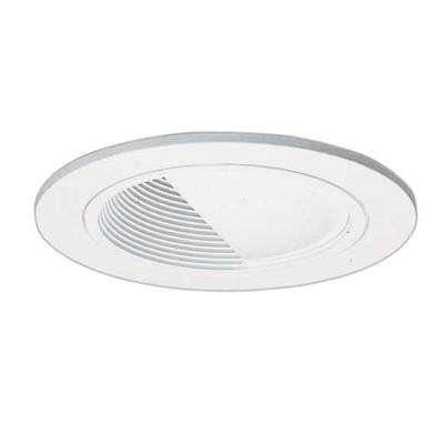 4 in. White Recessed Lighting Wall Wash Baffle Trim