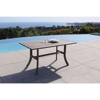 Renaissance 59 in. x 35 in. Hand-Scraped Acacia Patio Dining Table