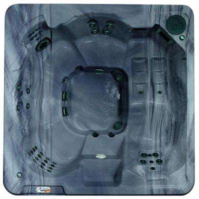 Cantania 6-Person 70-Jet Spa with Bromine System, LED Light, Polar Insulation, Collar Jets, and Hard Cover