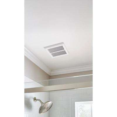80 CFM Ceiling Mount Roomside Installation Humidity Sensing Bathroom Exhaust Fan, ENERGY STAR