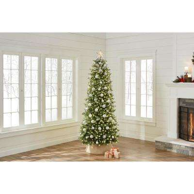 7.5 ft Pre-Lit LED Starlin Slim Color Changing 8-Function Artificial Christmas Tree with 800 Micro Dot Lights