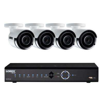 8-Channel 4K 2TB HDD Surveillance NVR System with 4 Super HD 4MP Indoor/Outdoor Wired Cameras and Remote Viewing