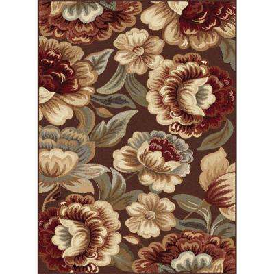 Impressions Brown 7 ft. 10 in. x 10 ft. 3 in. Indoor Area Rug