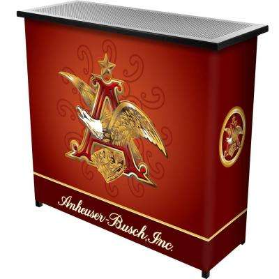2-Shelf 39 in. L x 36 in. H Anheuser Busch A and Eagle Portable Bar with Case
