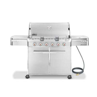 Summit S-620 6-Burner Stainless Steel Natural Gas Grill