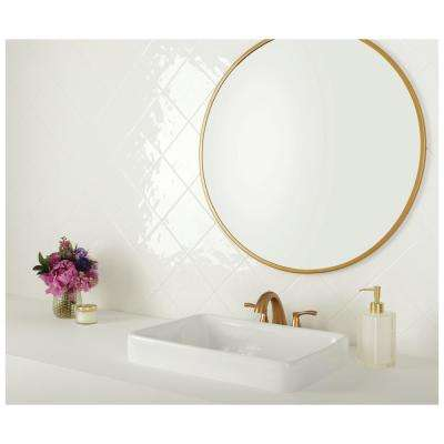 LuxeCraft White 6 in. x 6 in. Glazed Ceramic Wall Tile (12.5 sq. ft. / case)