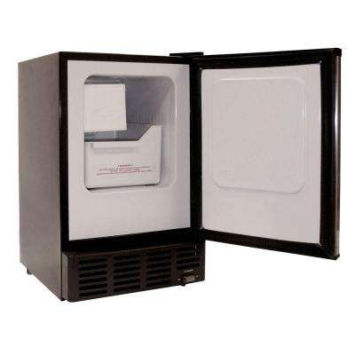 Under-Counter Ice Maker in Stainless/Black