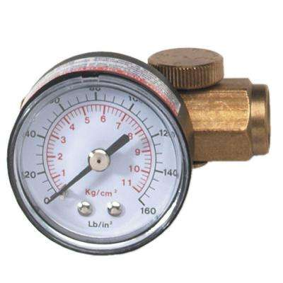1/4 in. In-Line Regulator with Gauge