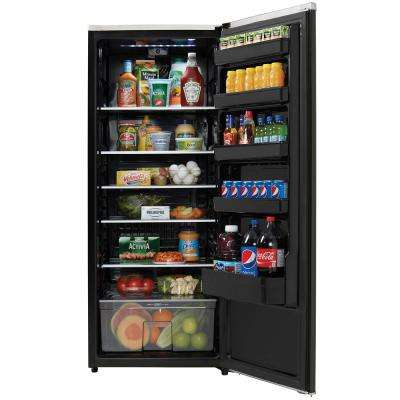 Contemporary Classic 24 in. W 11.0 cu. ft. Freezerless Refrigerator in Black, Counter Depth