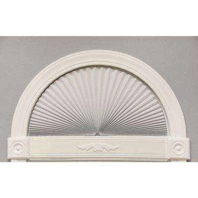 Original White Light Blocking Fabric Arch Pleated Shade - 72 in. W x 36 in. L