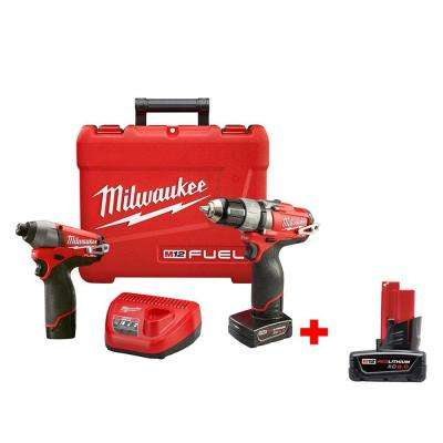M12 FUEL 12-Volt Lithium-Ion 1/2 in. Drill/Driver and Impact Combo Kit with 6.0Ah XC Battery
