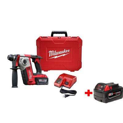 M18 18-Volt Lithium-Ion 5/8 in. Cordless SDS+ Rotary Hammer Kit 1-Battery W/ Free 4.0AH Battery
