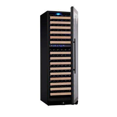 Dual Zone 23.42 in. 164-Bottle Wine Cooler in Black