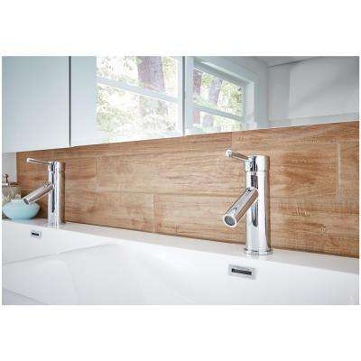 Montagna Soft Maple 4 in. x 28 in. Glazed Porcelain Floor and Wall Tile (9 sq. ft. / case)