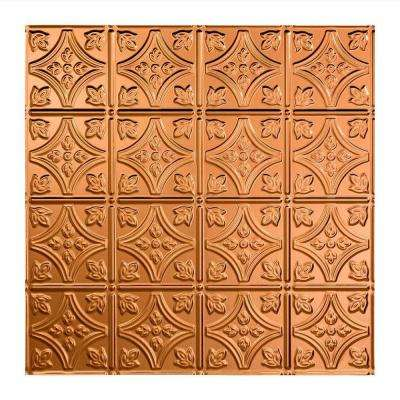 Traditional 1 - 2 ft. x 2 ft. Lay-in Ceiling Tile in Polished Copper