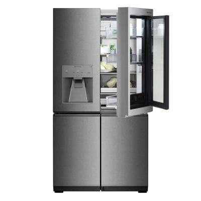 23 cu. Ft. French Door Smart Refrigerator with InstaView Door-in-Door and WiFi Enabled in Stainless Steel, Counter Depth