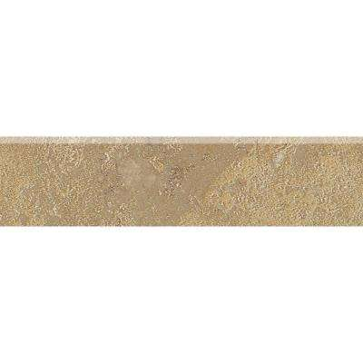 Sandalo Raffia Noce 3 in. x 12 in. Ceramic Bullnose Wall and Floor Tile