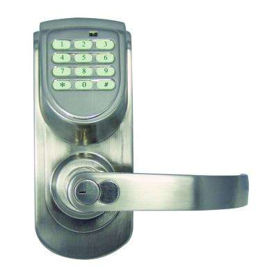 Satin Nickel Electronic Entry Lever with Right-Hand