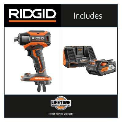 18-Volt OCTANE 6-Mode 1/4 in. Impact Drill with 18-Volt Lithium-Ion 2.0 Ah Battery and Charger Kit