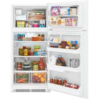 18 cu. ft. Top Freezer Refrigerator in White ENERGY STAR