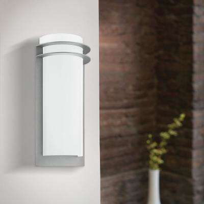 Malgera 1-Light Silver Outdoor Integrated LED Wall Mount Sconce