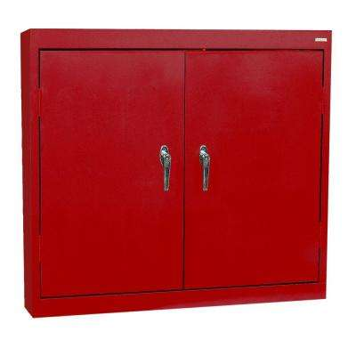 30 in. H x 36 in. W x 12 in. D Steel Wall Storage Cabinet in Red