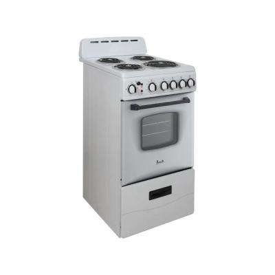 20 in. 2.1 cu. ft. Single Oven Electric Range in White
