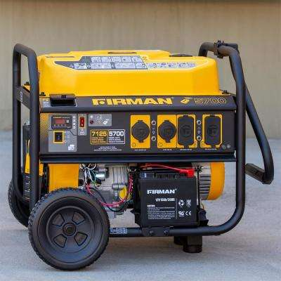 7100/5700-Watt 120/240V Remote Start Gas Portable Generator