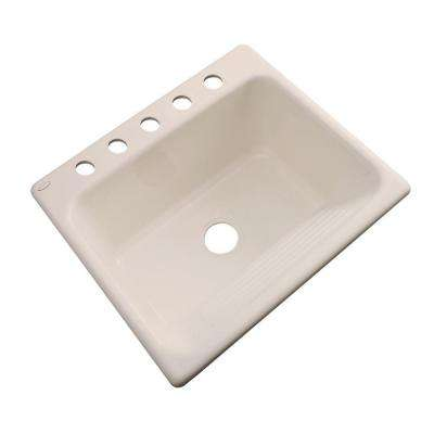Kensington Drop-In Acrylic 25 in. 5-Hole Single Bowl Utility Sink in Candle Lyte