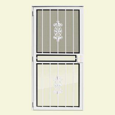 Rambling Rose Recessed Mount Outswing Security Door