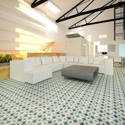 Kings Star Blue Encaustic 17-5/8 in. x 17-5/8 in. Ceramic Floor and Wall Tile (11.02 sq. ft. / case)