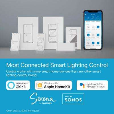 Caseta Wireless Smart Lighting On/Off Switch and Remote Kit for All Bulb Types, White